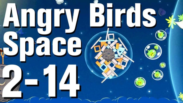 ZR. Angry Birds: Space Walkthrough Level 2-14 Promo Image