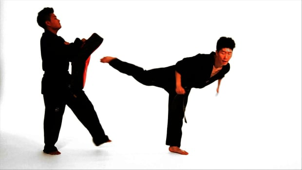 V. How to Do the Back Kick & Jump Back Kick in Taekwondo Promo Image