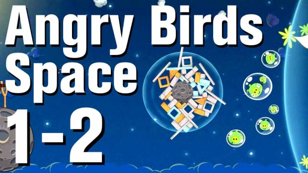 B. Angry Birds: Space Walkthrough Level 1-2 Promo Image
