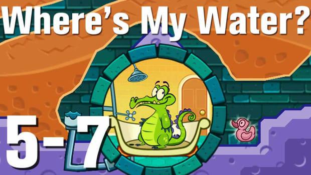 ZZZI. Where's My Water Walkthrough Level 5-7 Promo Image