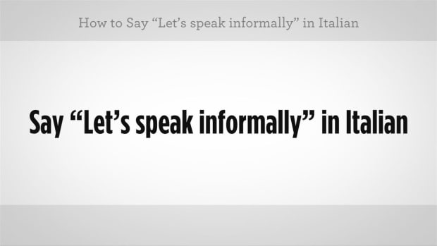 "ZZZG. How to Say ""Let's Speak Informally"" in Italian Promo Image"