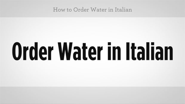 ZZT. How to Order Water in Italian Promo Image