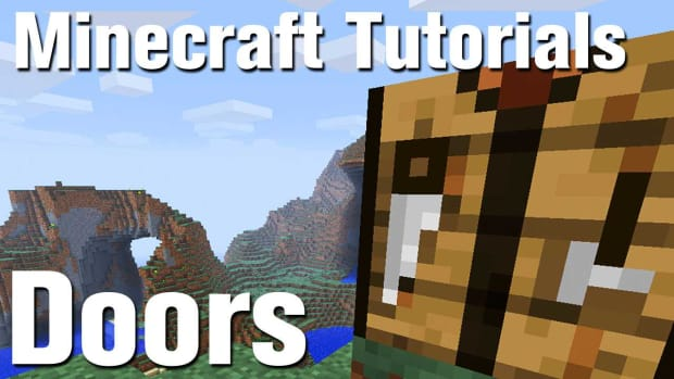 ZB. Minecraft Tutorial: How to Make a Door in Minecraft Promo Image