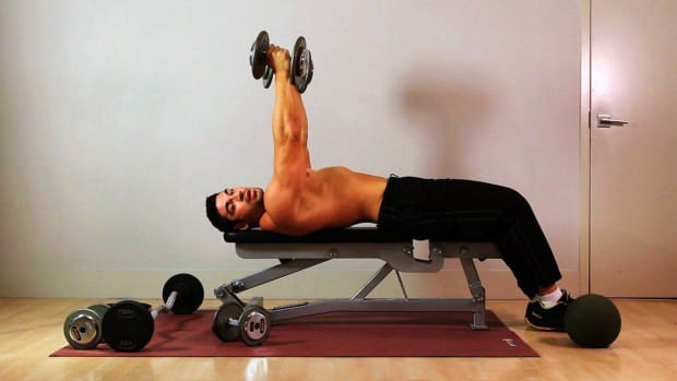 Z. How to Do a Rolling Dumbbell Extension for an Arm Workout Promo Image