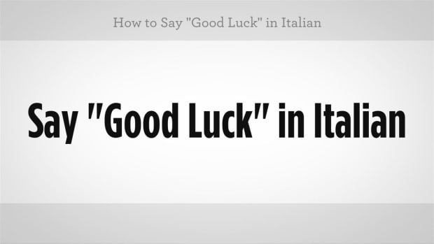 "ZY. How to Say ""Good Luck"" in Italian Promo Image"
