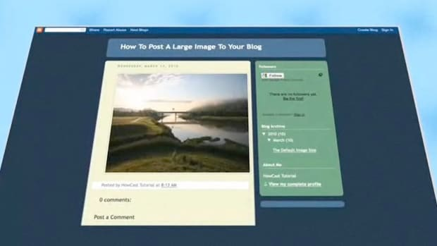B. How to Post a Large Image to Your Blog Promo Image