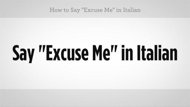 "O. How to Say ""Excuse Me"" in Italian Promo Image"