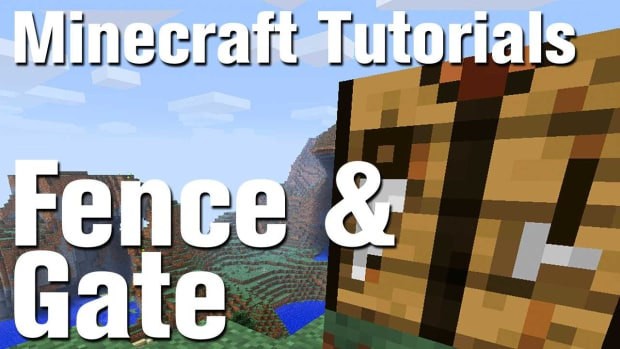 ZV. Minecraft Tutorial: How to Make a Fence and Fence Gate in Minecraft Promo Image