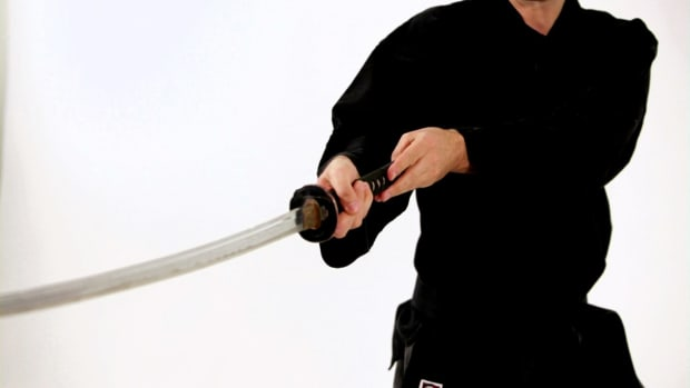 ZB. How to Do the Gedan No Kamae Katana Sword Fighting Stance Promo Image