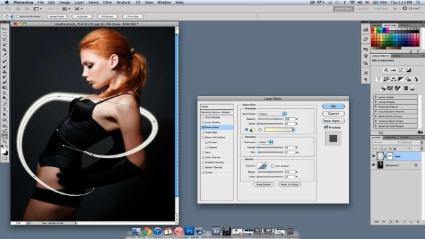 O. How to Draw a Glowing Line in Photoshop Promo Image
