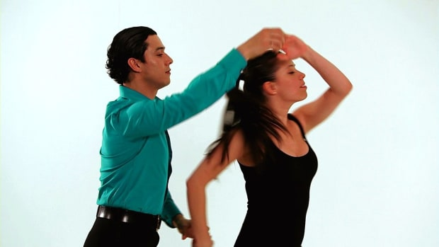 B. Upper Body Posture in Merengue Dance Promo Image