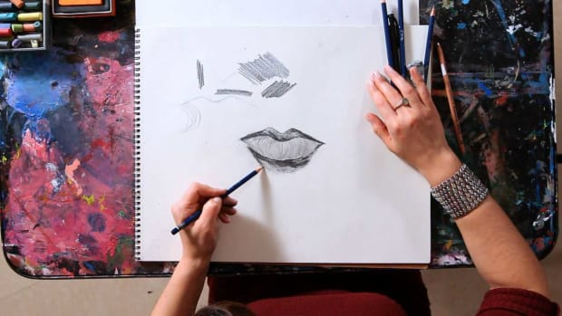 J. How to Draw a Realistic Mouth Promo Image