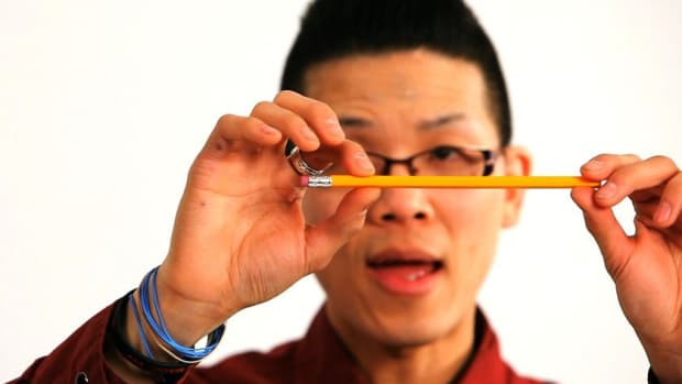 H. How to Do the Rubber Pencil Office Magic Trick Promo Image