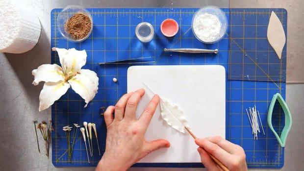 M. How to Make Petals for a Casablanca Lily Sugar Paste Flower Promo Image