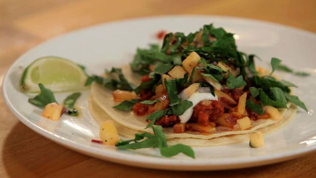 F. How to Make Potato & Chorizo Tacos Promo Image