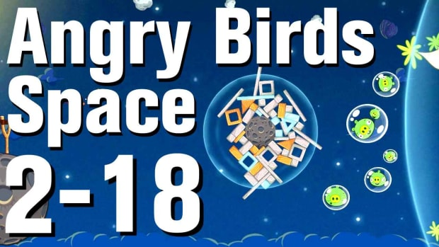 ZV. Angry Birds: Space Walkthrough Level 2-18 Promo Image