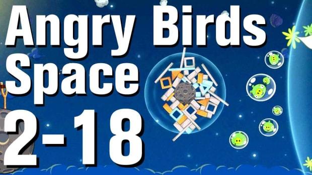 ZV. Angry Birds: Space Walkthrough Level 2-18 Promo Image