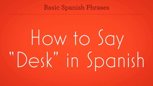"ZZB. How to Say ""Desk"" in Spanish Promo Image"