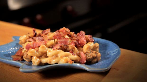 P. How to Make Bacon Cheeseburger Macaroni Promo Image