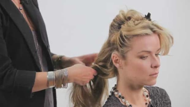 T. How to Create a Messy Updo for Long Hair Promo Image