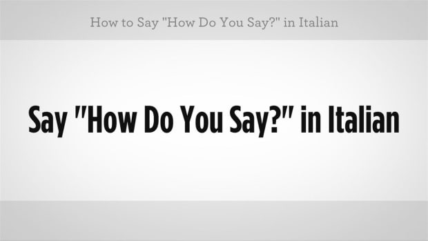 "ZZA. How to Say ""How Do You Say"" in Italian Promo Image"