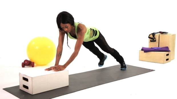 Y. How to Do an Up & Over Box Jump Plyometric Exercise Promo Image