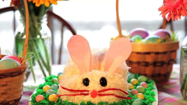 A. How to Make an Easter Bunny Cake Promo Image