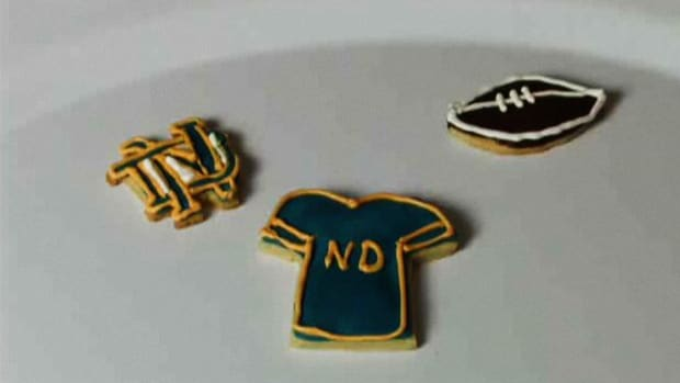 D. How to Decorate Cookies for a Notre Dame Fighting Irish Game Promo Image