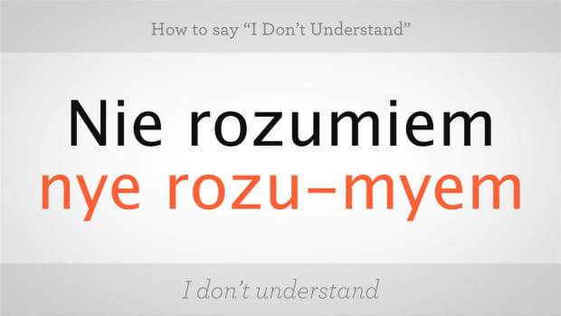 "ZP. How to Say ""I Don't Understand"" in Polish Promo Image"