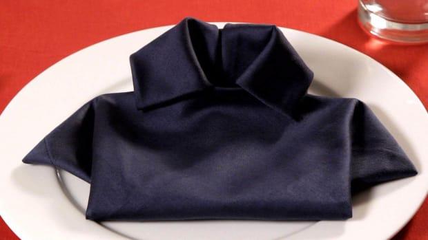 ZB. How to Fold a Napkin into a T-Shirt Promo Image