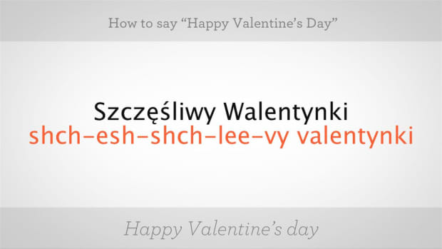 "ZL. How to Say ""Happy Valentine's Day"" in Polish Promo Image"