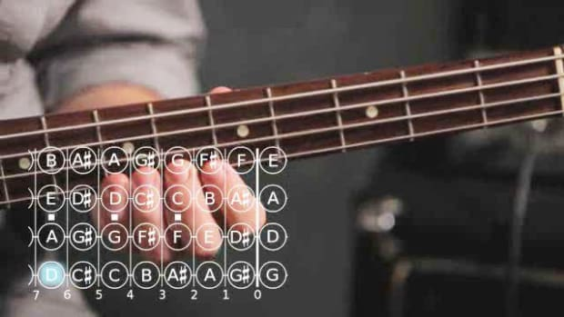ZZD. How to Play a B Minor Scale on Bass Guitar Promo Image
