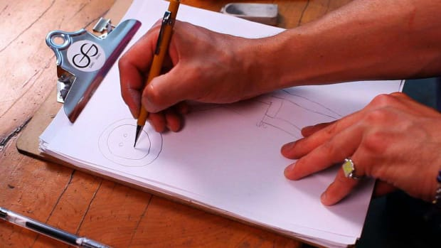I. How to Indicate a Button on a Fashion Sketch Promo Image