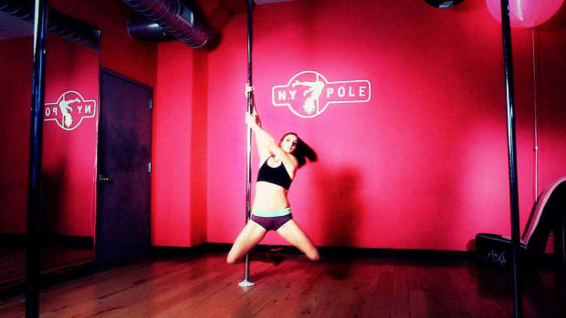 D. How to Do an Inside Hook Spin in Pole Dancing Promo Image