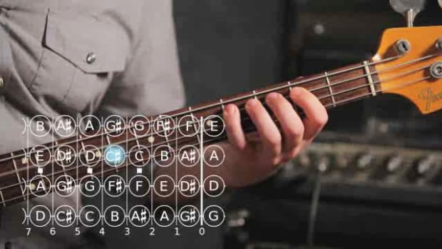 ZM. How to Play an A Major Scale on Bass Guitar Promo Image