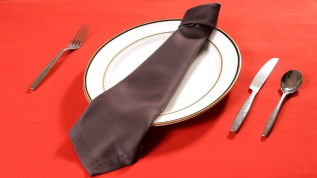 N. How to Fold a Napkin into a Necktie Promo Image