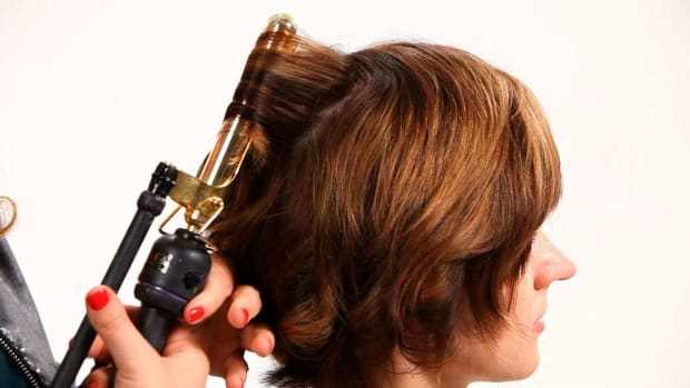 Q. How to Use a Curling Iron on Short Hair, Part 1 Promo Image