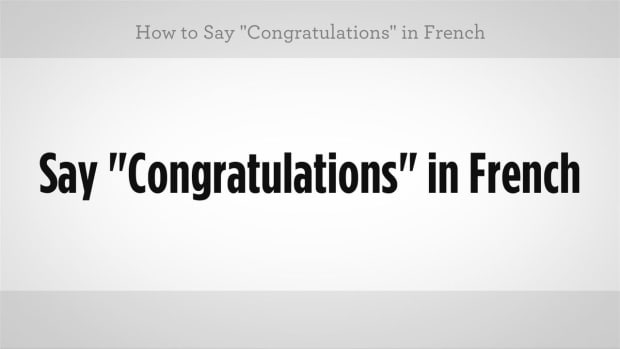 "ZZB. How to Say ""Congratulations"" in French Promo Image"