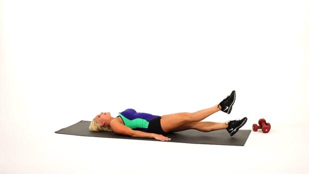 T. How to Do Leg Flutters or Flutter Kicks for a Leg Workout Promo Image