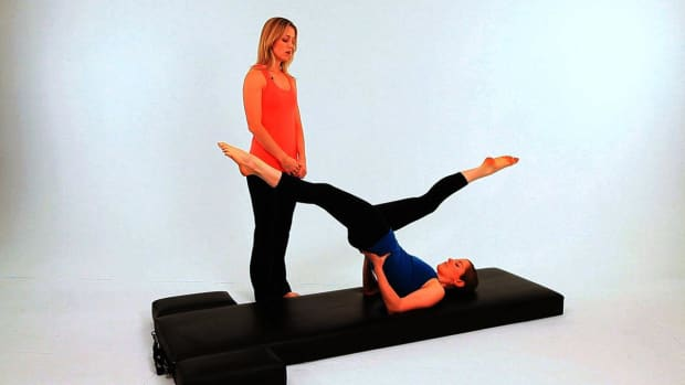 ZZB. How to Do High Scissors in Pilates Promo Image