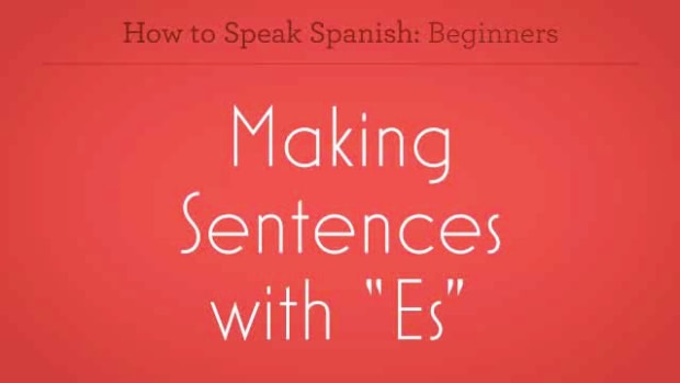"ZZS. How to Make Sentences with ""Es"" in Spanish Promo Image"
