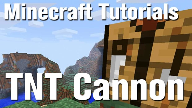 ZW. Minecraft Tutorial: How to Make a Portable Cannon in Minecraft Promo Image