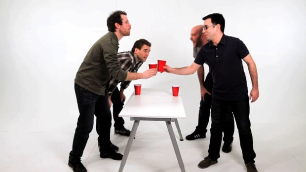 M. How to Play the Drinking Game Flip Cup aka Flippy Cup Promo Image
