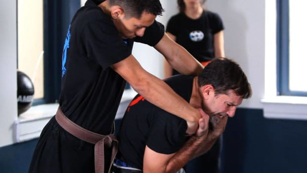 T. How to Defend against a Choke Hold from the Rear in Krav Maga Promo Image