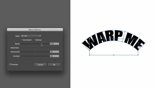 ZK. How to Reshape Text with an Object Warp in Adobe Illustrator Promo Image