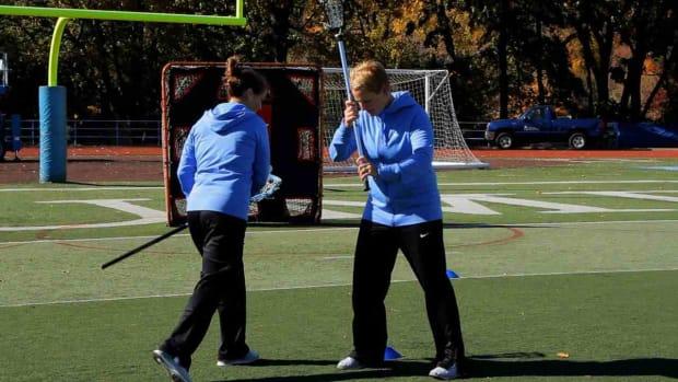 W. How to Sword Dodge in Women's Lacrosse Promo Image