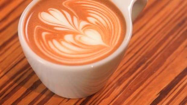 J. How to Pour a Heart into a Rosetta for Latte Art Promo Image