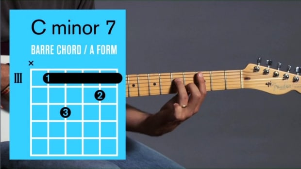 ZZZZT. How to Play a C Minor 7 Barre Chord on Guitar Promo Image