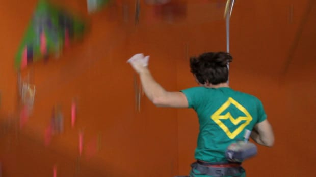O. How to Take & Catch a Lead Fall for Indoor Climbing Promo Image