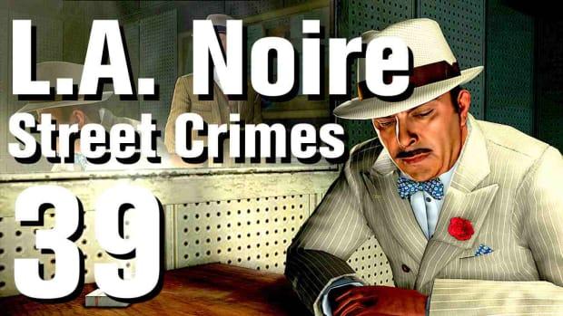 """ZM. L.A. Noire Walkthrough Street Crimes 39: """"Bus Stop Shooting"""" Promo Image"""